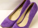 2013年早春新品金属鞋头单鞋 甜美毛茸