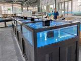 株洲超市水产鱼缸厂家供应定做海鲜鱼池玻璃鱼缸定制