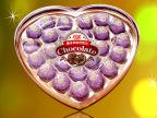 批发爱心巧克力礼盒 榛子夹心巧克力 24粒心形情人节巧克力 303g