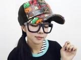 千艾 新款男女情侣帽子潮人卡通网帽鸭舌棒球帽街舞 嘻哈帽 韩版