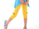 原创设计 2014夏季糖果色打底裤 女童韩版蝴碟结五分中裤童裤批
