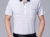夏季新款纯棉短袖T恤男士翻领格子大码潮流polo衫男装9元