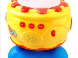 正品宝丽手拍鼓 发光音乐欢乐拍拍旋转拍鼓婴儿童音乐玩具 1006