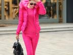 2014冬季新款韩版羽绒棉服马甲大毛领长裤三件羽绒套装女