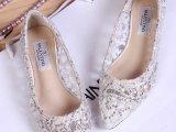 厂家直销 欧洲站14新款尖头水钻亮片平底女鞋微信一件代发