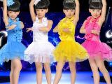 儿童新款蓬蓬演出裙女童元旦拉丁舞比赛服装圣诞亮片舞比赛表演服