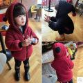 韩版男女童卫衣连帽羊羔绒双面外套开衫毛茸茸直销