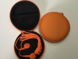 深圳订制橙色音乐时尚耳机 通信电子产品促销品