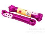 厂家直销PVC内包丙纶丝晾衣绳 塑料晾衣绳 带挂钩 颜色多种