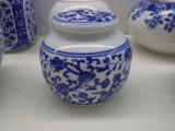 景德镇青花陶瓷膏方罐子中药药材储物瓷瓶食品包装陶瓷容器带密封