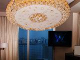 客厅灯圆形水晶灯吸顶灯贴片大厅灯酒店工程会所别墅灯饰灯具795
