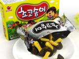 韩国食品批发 好丽友蘑菇力 黄蘑菇饼干 进口饼干 一箱24盒