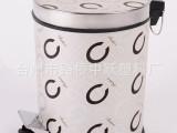 供应多功能时尚  创意家用垃圾桶 皮革圆形脚踩垃圾桶