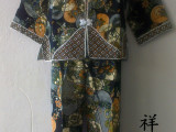 供应儿童唐装,蜡染,扎染服装,长袖葫芦衣