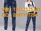 广西崇左哪里店铺牛仔裤货源厂家直销韩版宽松女式牛仔裤批发