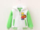 中小童男女童装品牌外贸单面绒卫衣外套批发 印猴子加厚冬款童装