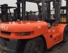 很好用的二手叉车转让杭州叉车柴油3吨6吨实心胎防爆叉车