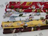 全棉活性竹节布料 家居布艺桌布抱枕窗帘布料 活性环保花鸟印花布