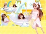 迷你可喷水浴室益智场景洋娃娃玩具中国芭比娃娃 畅销系列产品