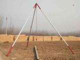 10米电线杆铝合金立杆机 可分节 三脚架扒杆抱杆