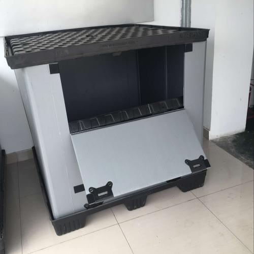 可折叠循环物流箱,围板箱,PP塑料中空板,中空围板箱