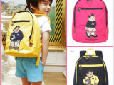 童包 外贸韩国小熊儿童双肩帆布旅游背包 幼儿园卡通小书包批发