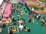 幼兒園大型戶外拓展玩具碳化積木玩具山東三工匠
