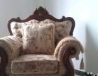 因客厅较小,转让全新单人欧式实木雕花沙发一个,木质