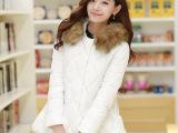 2014秋冬季加厚韩版羽绒棉棉衣 女装代理加盟 品牌服装一件代发