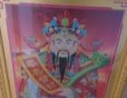 钻石画大幅财神爷成品出售.
