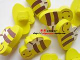 (直径1.5*2.0cm)手工\DIY\辅料\彩绘蜜蜂木扣