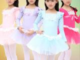 新款长袖儿童舞蹈服装练功服女童芭蕾少儿拉丁舞衣秋冬季演出服装