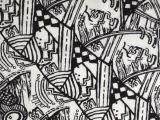 限时 便宜全棉丝绸质感 抽象图案印花布 用于裙料 上装料 衬衫料