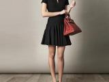 2014春夏章子怡同款小礼服爆款褶皱荷叶边修身气质显瘦连衣裙 女