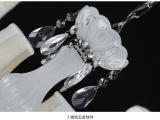 厂家批发水晶吊灯 卧室水晶灯 餐厅灯饰 白色水晶蜡烛灯现货供应