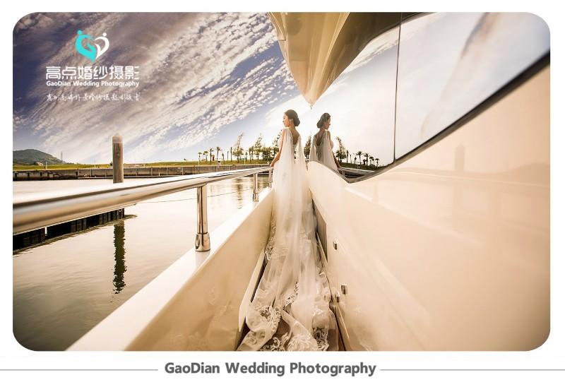 游艇婚纱,泰坦尼克般的浪漫