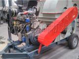大量供应移动式木材柴油粉碎机/可移动式柴油动力树枝粉碎机