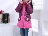 2018冬装新款上架女童中长款羽绒棉服