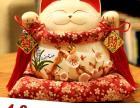 陶瓷定做招财猫摆件 金色大号日本存钱储蓄罐 店铺开业创意礼品