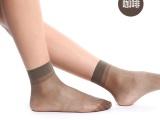 春夏超薄短丝袜 天鹅绒透气抗菌水晶短袜 百搭 厂家直销