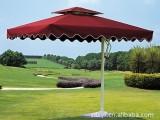 枣红色侧立伞、豪华休闲伞、小区别墅伞、休闲花园伞、物业伞