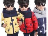 新款童装2014男童星星棉衣儿童保暖加厚五角星羽绒棉棉袄冬装外套