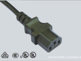 [厂家直销]0.75*1.5米品字尾电源线 品公三插 公插 电饭