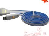 新款导光线 发光充电线 荧光发光线 三星安卓发光数据线 批发代理