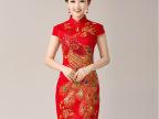 新款红色新娘敬酒服结婚礼服复古短款改良时尚年会短款晚礼服旗袍