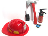 消防过家家 幼儿园玩具消防帽 消防员山姆灭火筒一件代发舞台道具