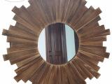 实木家居挂镜 复古创意木质卫浴壁挂 镜子