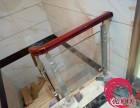 深圳玻璃实木楼梯扶手 家装玻璃楼梯 别墅楼梯栏杆包安装