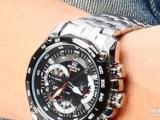 手表卡西欧casio EF-550D 全新正品 运动型红