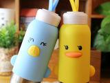 新款萌吖吖动物创意儿童情侣学生保温杯 不锈钢批发大肚杯